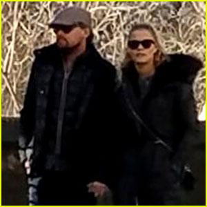 Leonardo DiCaprio & Nina Agdal Hold Hands During Central Park Stroll