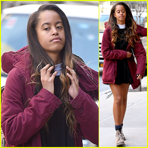 Malia Obama Steps Out in Freezing Cold New York City