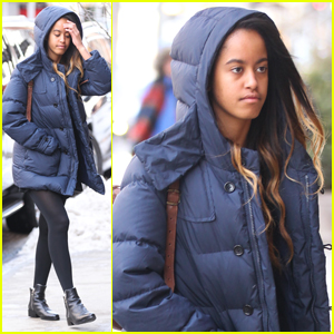 Malia Obama Bundles Up in NYC While Heading to Internship