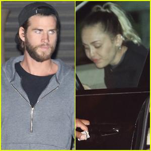 Miley Cyrus & Liam Hemsworth Make it a Date Night in Malibu