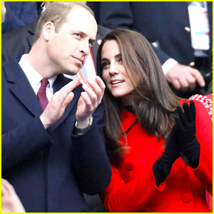Prince William & Kate Middleton Watch a Rugby Match During Their Paris Visit
