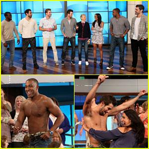 'The Bachelorette' Rachel Lindsay Brings Group Date to 'Ellen' - Meet the 6 Guys!