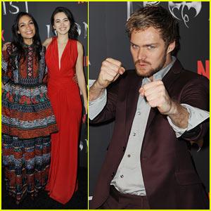 Rosario Dawson, Jessica Henwick, & Finn Jones Attend the 'Iron Fist' Premiere in NYC