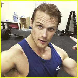 Sam Heughan's Workout Photos Are Too Hot to Handle