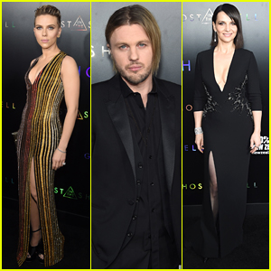 Scarlett Johansson & Michael Pitt Attend 'Ghost in the Shell' Premiere in NYC