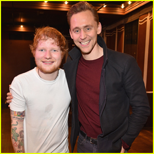 Tom Hiddleston Attends Ed Sheeran SiriusXM Secret Show in NYC
