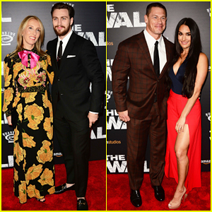 Aaron Taylor-Johnson & John Cena Couple Up At 'The Wall' NYC Premiere!