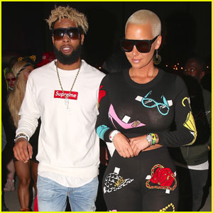 Amber Rose & Odell Beckham Jr. Hang Out at Coachella