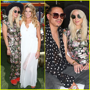 Ashley Greene & Ashlee Simpson Meet Up at Coachella Bash