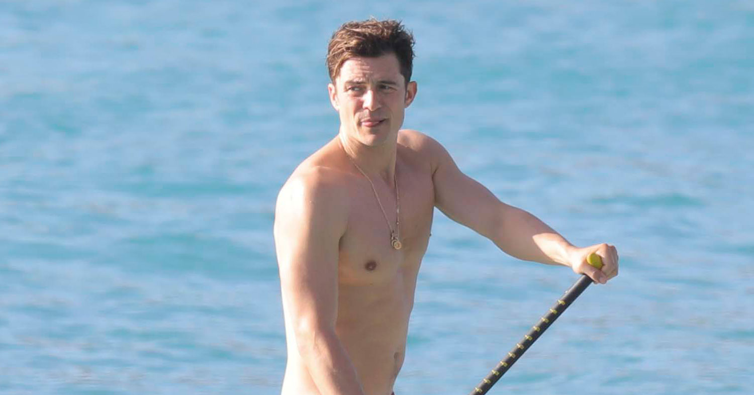 Orlando Bloom Comments on Paddle Boarding Photos for First ... Orlando Bloom Paddle Boarding