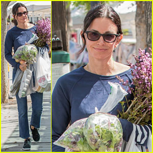 Courteney Cox Heads to Farmers' Market After Praising Daughter Coco's Music Video Debut