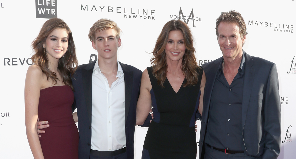 Cindy Crawford & Family Support Presley Gerber at Fashion ...