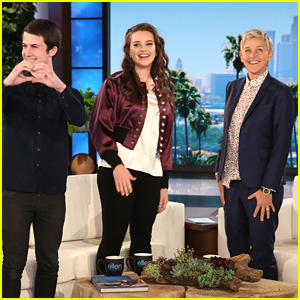 Dylan Minnette & Katherine Langford Discuss the Success of '13 Reasons Why' with Ellen DeGeneres!