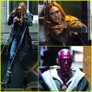 Elizabeth Olsen Performs Stunts for 'Avengers: Infinity War' - New Photos!