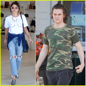 Emma Roberts & Evan Peters Step Out Separately in Beverly Hills