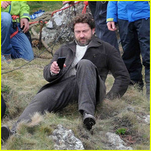 Gerard Butler Loses His Balance On 'Keepers' Set in Scotland