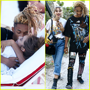Jaden Smith & New Girlfriend Odessa Adlon Show Off Major PDA On Beach