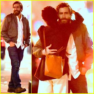 Jake Gyllenhaal Hugs Greta Caruso After Closing 'Sunday' on Broadway!