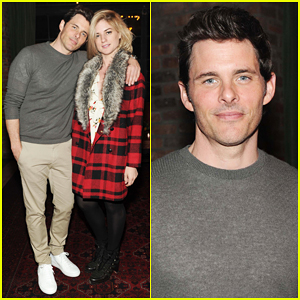 James Marsden Supports His Stylist Ilaria Urbinati At Eddie Bauer Limited Edition Womenswear Launch!
