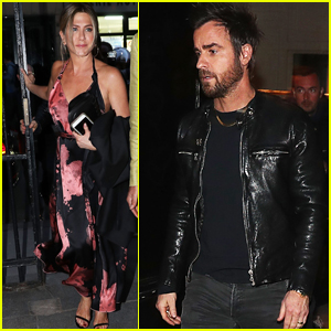 Jennifer Aniston & Justin Theroux Enjoy Date Night in Piaris