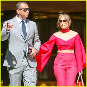 Jennifer Lopez & Alex Rodriguez Kick Off the Week Together in NYC
