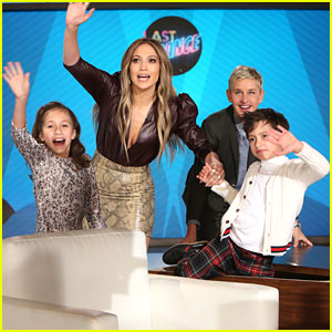 Jennifer Lopez Brings Twins Max & Emme To 'Ellen'!