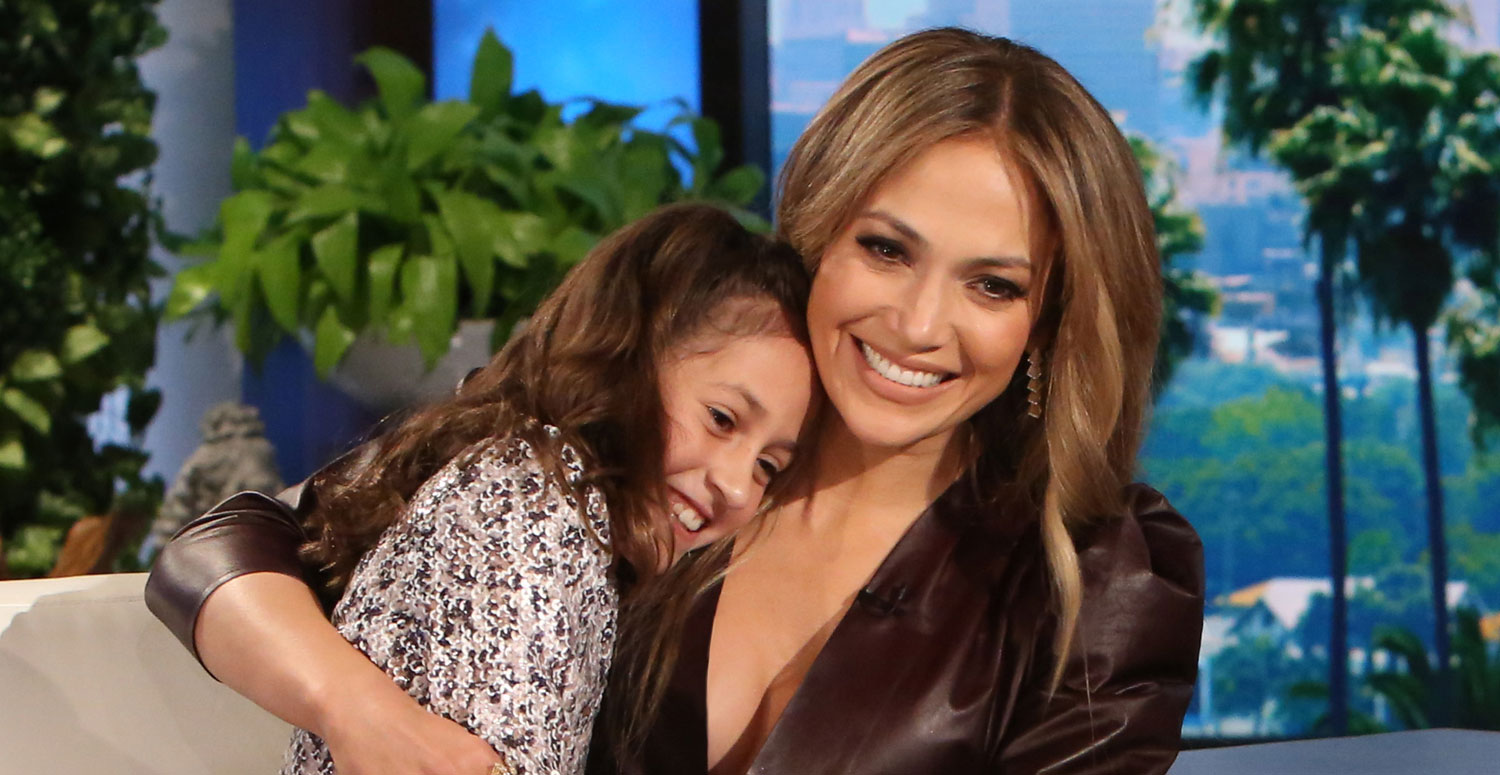 Jennifer Lopez Brings Twins Max & Emme To 'Ellen ...