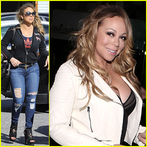 Mariah Carey Shows Off Her Rocker Chick Side