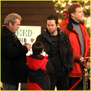 Mark Wahlberg & Will Ferrell Film 'Daddy's Home 2' with Mel Gibson
