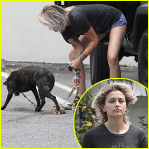 Paris Jackson Takes Her Pup to the Vet After Opossum Attack