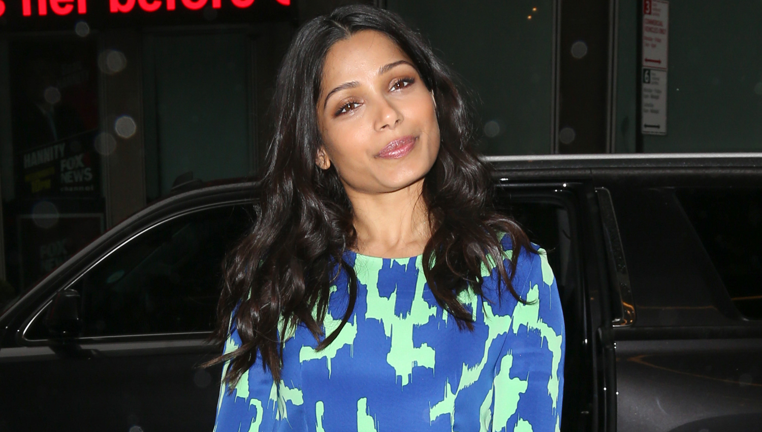 Freida Pinto Promotes Her Upcoming Show 'Guerilla' in NYC | BlogParser Freida Pinto