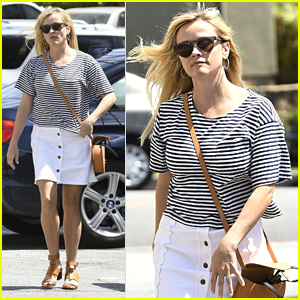 Reese Witherspoon Takes Son Deacon to Clippers Game!