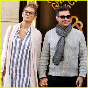 Ryan Seacrest & On-Again Girlfriend Shayna Taylor Hold Hands in Paris!
