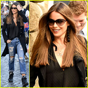 Sofia Vergara Enjoys Some Down Time While Filming 'Bent' in Italy