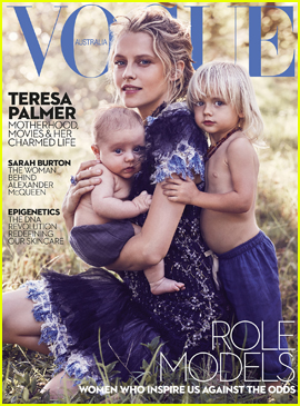 Teresa Palmer Covers 'Vogue' With Sons Bodhi & Forest