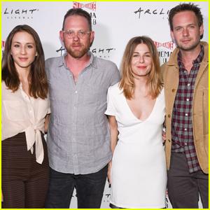 Troian Bellisario & Husband Patrick J. Adams Have a Movie Night in LA!