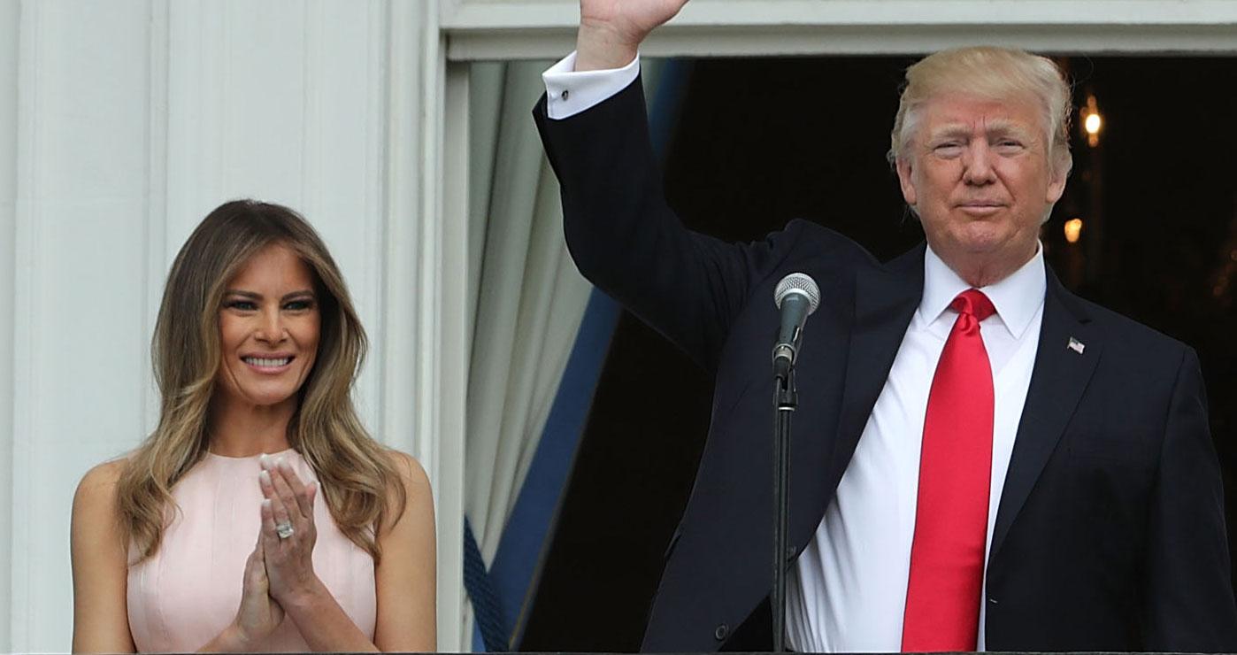 story melania trump remind husband national anthem right
