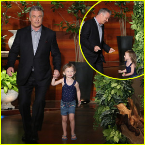 Alec Baldwin's Daughter Carmen, 3, Steals the Show on 'Ellen' - Watch Now!