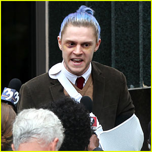 Evan Peters & More Cast Members Begin Filming 'AHS' Season 7!