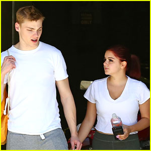 Ariel Winter Shows Off New Red Hair Color While Out With Boyfriend Levi Meaden