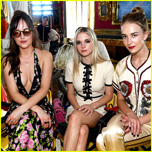 Dakota Johnson Brings Her Sisters to the Gucci Fashion Show!