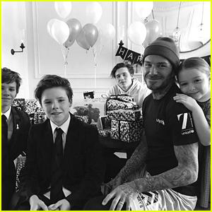 David Beckham Celebrates His Birthday with His Family!