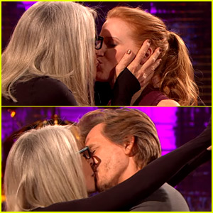 Diane Keaton Kisses Jessica Chastain & Kevin Bacon During Talk Show Interview! (Video)