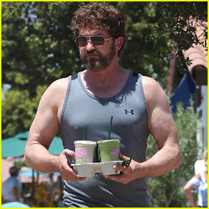 Gerard Butler Shows Off His Buff Biceps in LA!
