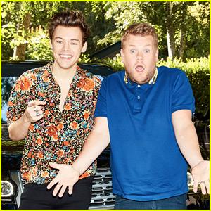 Harry Styles Does 'Carpool Karaoke' with James Corden - WATCH NOW!