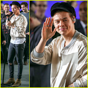 Harry Styles Looks Oh-So-Stylish While Performing New Songs from Debut Album