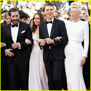 Jake Gyllenhaal, Tilda Swinton & Lily Collins Switch It Up For 'Okja' Cannes Premiere!