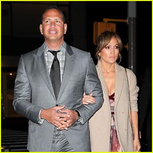 Jennifer Lopez & Alex Rodriguez Have a Fancy Dinner Date!