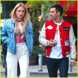 Sophie Turner & Joe Jonas Step Out in Matching Retro Oufits