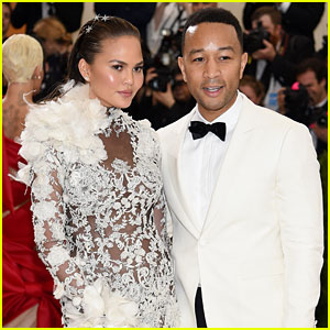 Chrissy Teigen & John Legend Accent Each Other Perfectly at Met Gala 2017